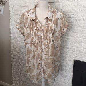 Coldwater creek sheer button down top